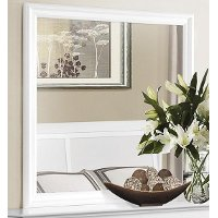 Classic Traditional White Mirror - Mayville