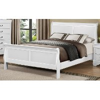 White King Size Sleigh Bed - Mayville