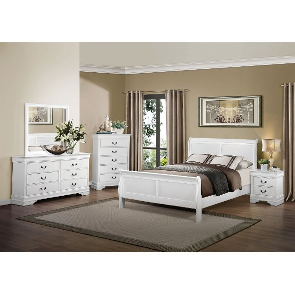 Delightful ... Classic Traditional White 4 Piece King Bedroom Set   Mayville