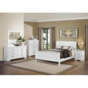 white full bedroom set.  White 6 Piece Full Bedroom Set Mayville RC Willey sells full bedroom sets and size mattresses