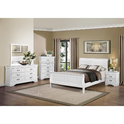 White 6-Piece Full Bedroom Set - Mayville | RC Willey Furniture Store