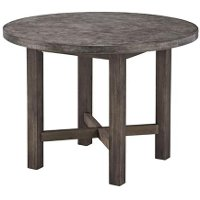 Gray Round Dining Table - Concrete Chic