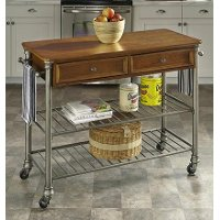 Vintage Caramel Top Kitchen Cart - Orleans Wood