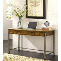 Vintage Caramel Executive Desk - Orleans Wood