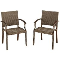 Aged Metal Rust Dining Chair Pair - Urban Outdoor