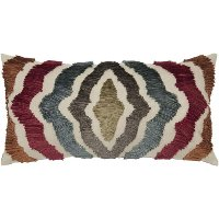 Multi Colored Rectangular Throw Pillow