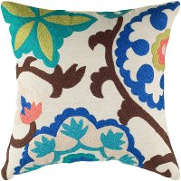 Multi Colored Suzani Throw Pillow