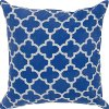 Blue and Silver Throw Pillow
