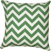 Green and White Chevron Throw Pillow