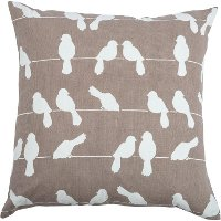 Gray-Taupe and White Dove 20 Inch Throw Pillow