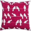 Raspberry and White Dove Throw Pillow