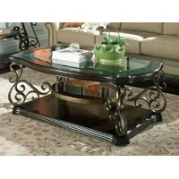Traditional Glass Top Coffee Table - Seville