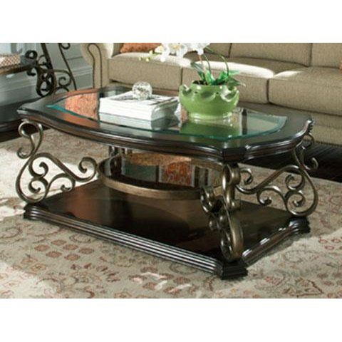 Traditional Gl Top Coffee Table Seville