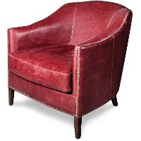 Rouge Leather Chair - Madison