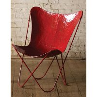 Iron Antique Red Butterfly Chair