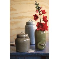 13 Inch Brown Lidded Canister