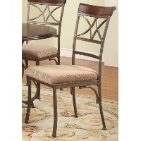 Hamilton Cherry & Pewter Side Chair