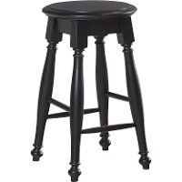 Arcadia Black 24 Inch Counter Stool Rc Willey Furniture