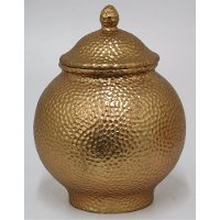 Gold Jar with Lid