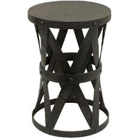 20 Inch Black Metal Accent Table
