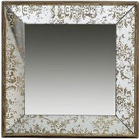 Antique Square Mirrored Tray