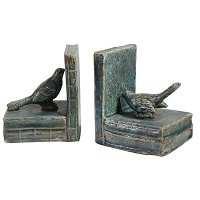 Multi-Color Bird Bookend Pair
