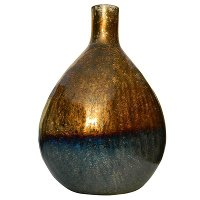 Tri-Color Glass Vase