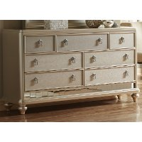 Traditional Champagne Gold Dresser - Diva