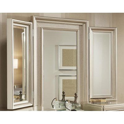 Diva Champagne Tri-View Vanity Mirror | RC Willey Furniture Store