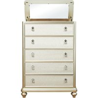 Traditional Champagne Chest of Drawers - Diva