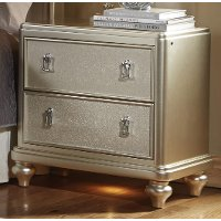 Traditional Champagne Nightstand - Diva