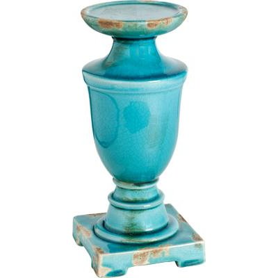 10 Inch Blue Candle Holder