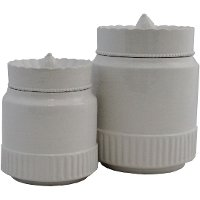 8 Inch White Canister