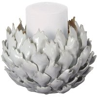 Ceramic 6 Inch Blossom Candle Holder