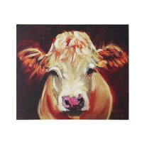 24x20 Inch Cow Canvas Wall Art