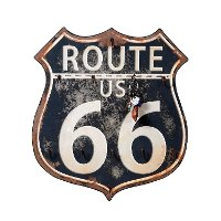 Wooden 'Route 66' Wall Key Holder