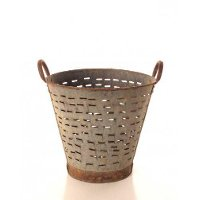 Metal Olive Basket with Handles