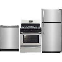 SS-3PC-GAS-PACKAGE Frigidaire 3 Piece Kitchen Appliance Package with Gas Range - Stainless Steel