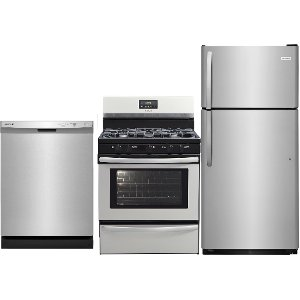 ... SS 3PC GAS PACKAGE Frigidaire Stainless Steel 3 Piece Gas Kitchen  Appliance Package ...