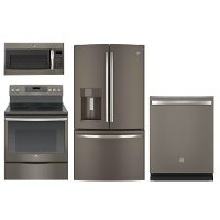 4PC-SLATE-ELE-PACKG GE Slate 4 Piece Kitchen Appliance Package with 30 Inch Electric Range