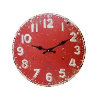 13 Inch Red Wall Clock