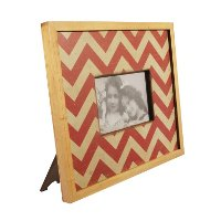 Red Chevron Wood Picture Frame