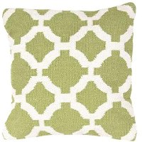 CD44-CADIZCAD03PLW Green and White Geometric Throw Pillow