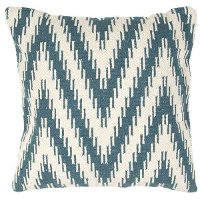 CD50-CADIZCAD06PLW Teal and White Throw Pillow