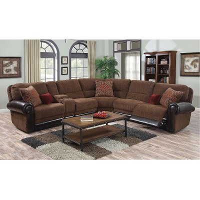 ... 4PC1252AUBNLLVSC Auburn Brown 4-Piece Power Reclining Sectional ...  sc 1 st  RC Willey & Reclining sectional \u0026 leather reclining sectional   RC Willey ... islam-shia.org