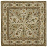 8' Square Sage Green Area Rug - Tara