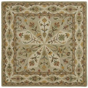 8u0027 square sage green area rug