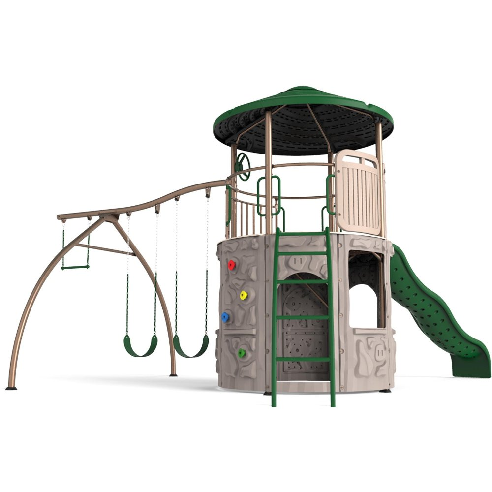 free swing earthtones set sale assets lifetime adventure on with basic p playground tower images shipping