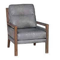 Charcoal Gray Performance Fabric Accent Chair - Zoe