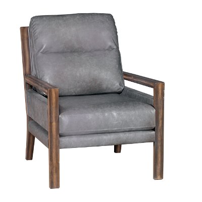 Charcoal Gray Performance Fabric Accent Chair   Zoe